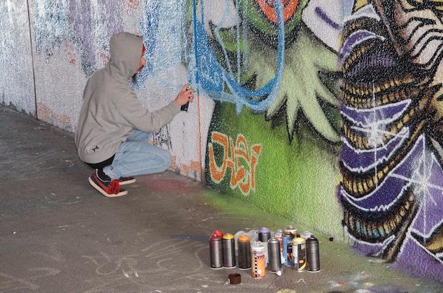 De absolut sista graffitimålningarna i Talavidstunneln i Jönköping (4/6)