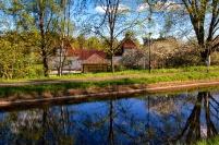 Baksidan av huset med Kanalen