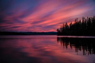 Solnedgång vid Jormvattnet